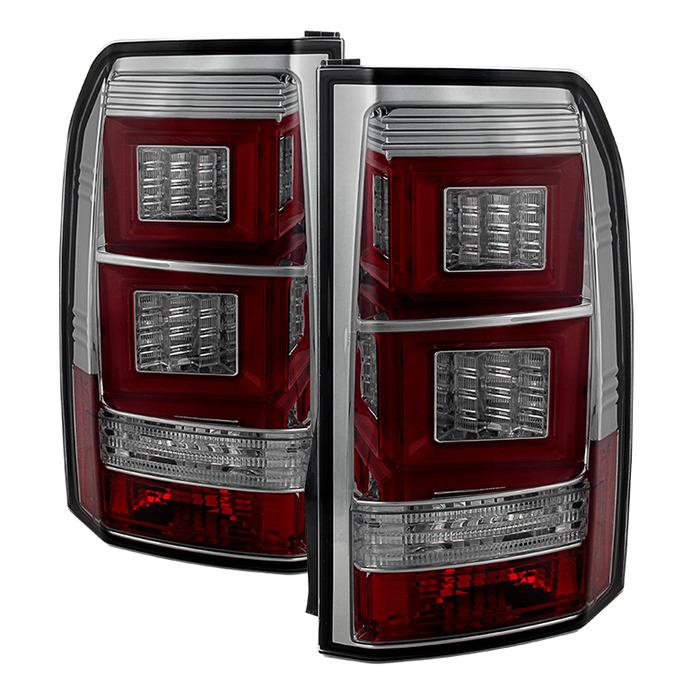 Spyder Auto ALT-YD-LRDLR410-LBLED-SM Smoke Light Bar LED Taillights Land Rover Discovery LR4 10-14