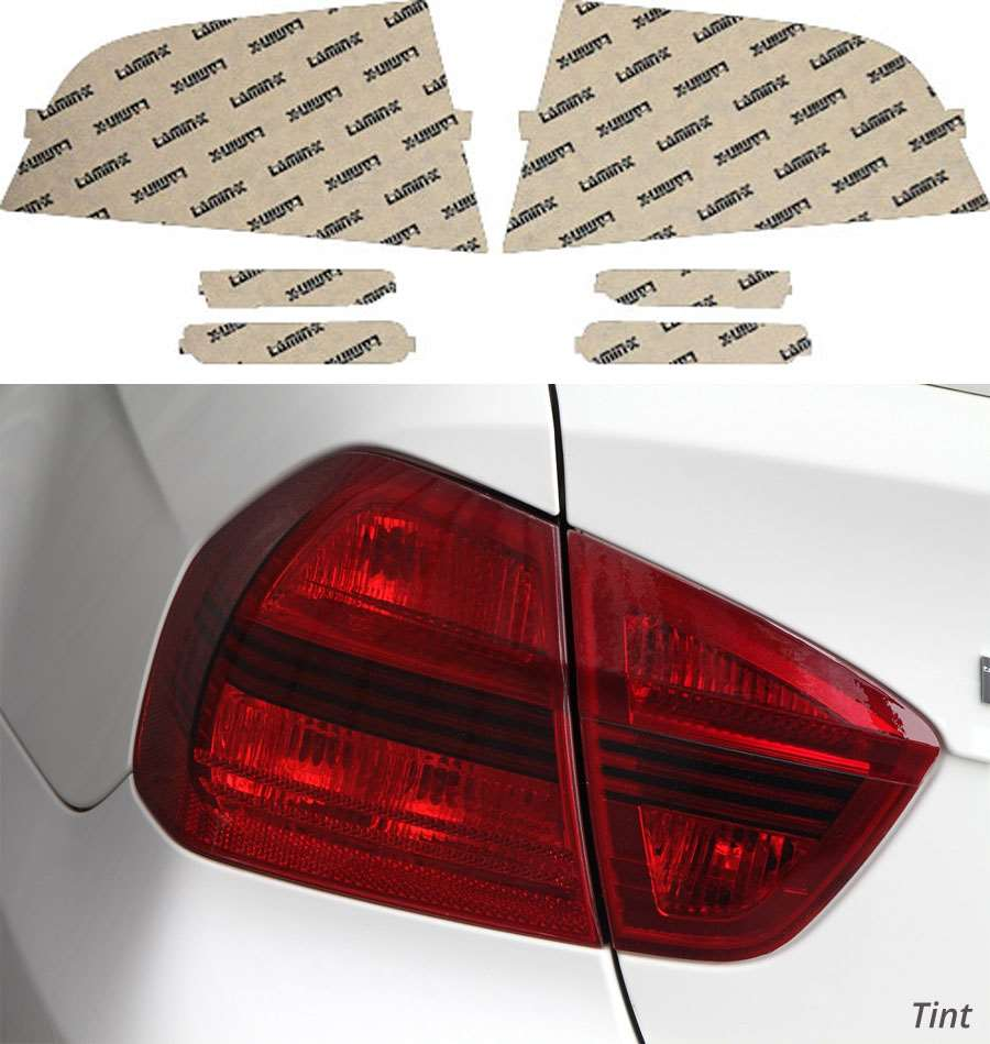 Acura TL 04-08 Tint Tail Light & Side Marker Covers Lamin-X AC406T