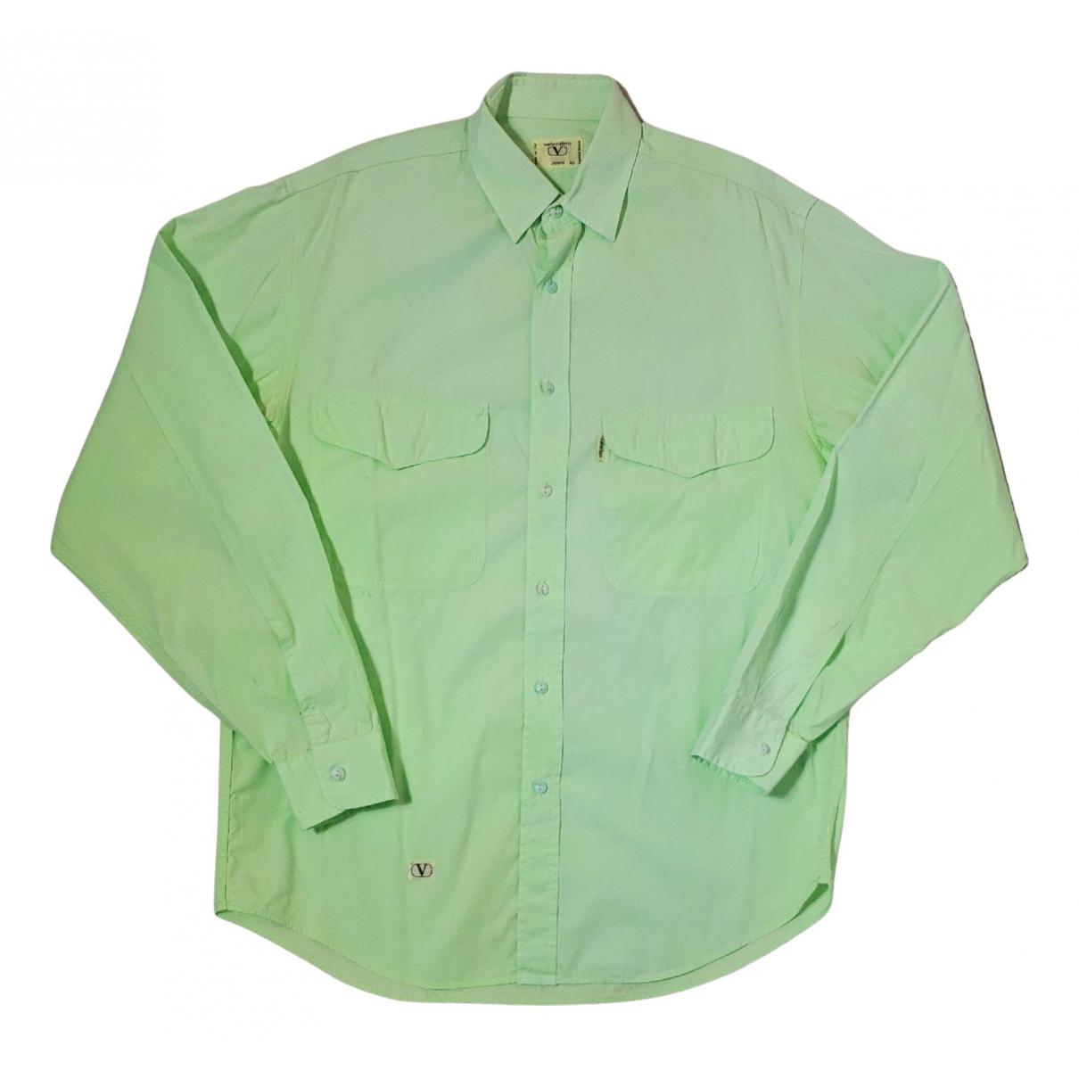 Valentino Garavani - Chemises   pour homme en coton - vert