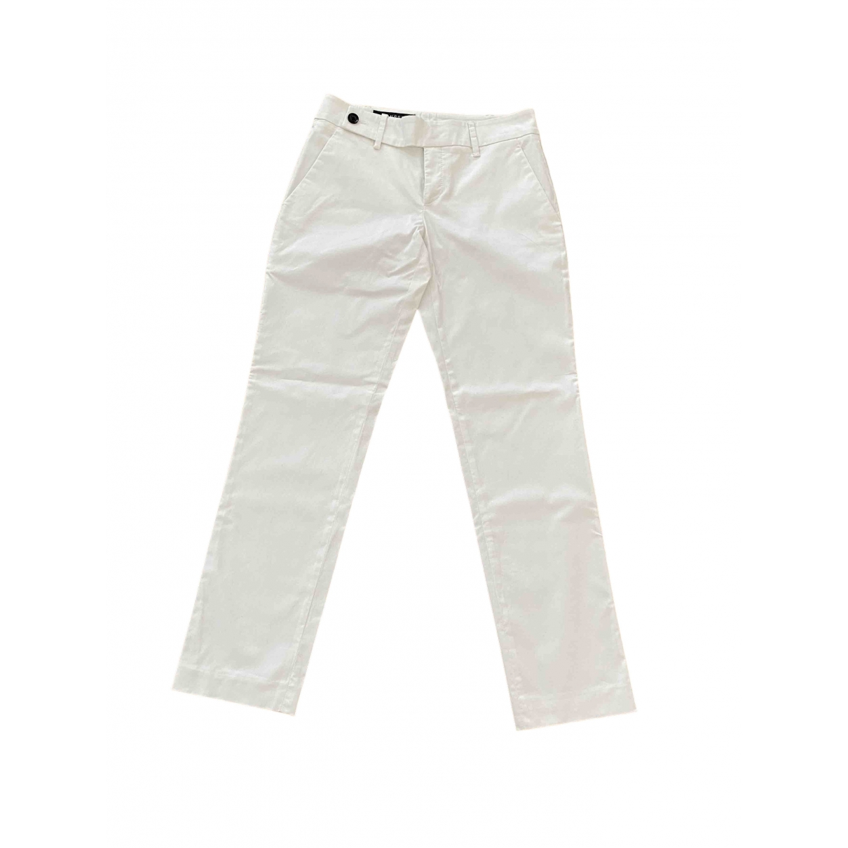 Gucci \N White Cotton Trousers for Women 38 IT
