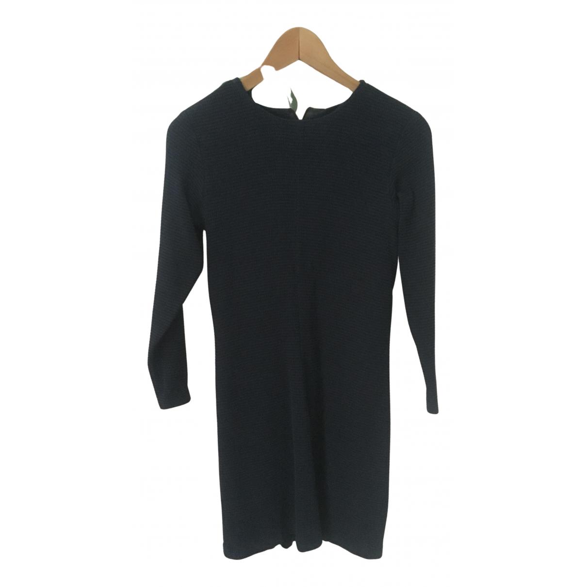 Yves Saint Laurent \N Kleid in  Blau Seide
