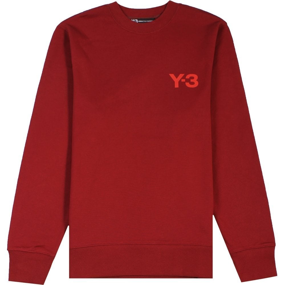 Y-3 Classic Sweatshirt Red Colour: RED, Size: SMALL