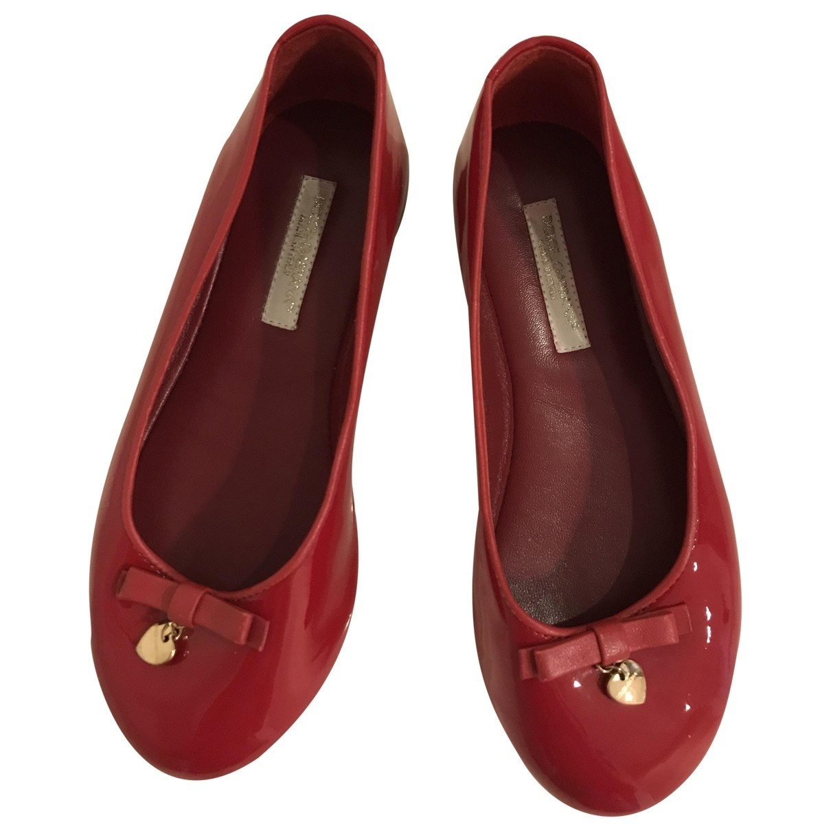 Dolce & Gabbana \N Ballerinas in  Rot Lackleder