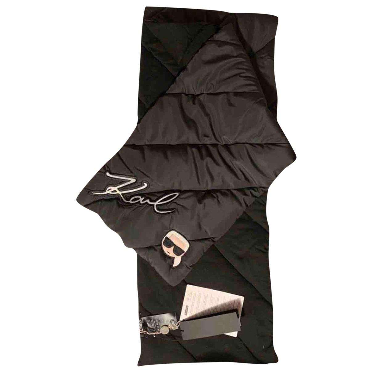 Karl Lagerfeld - Foulard   pour femme en coton - noir