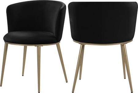 965BLACK-C Skylar Black Velvet Dining Chair (Set of