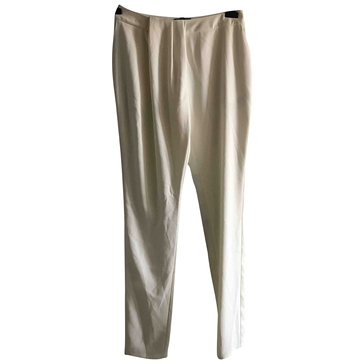 Hôtel Particulier N White Trousers for Women 38 FR
