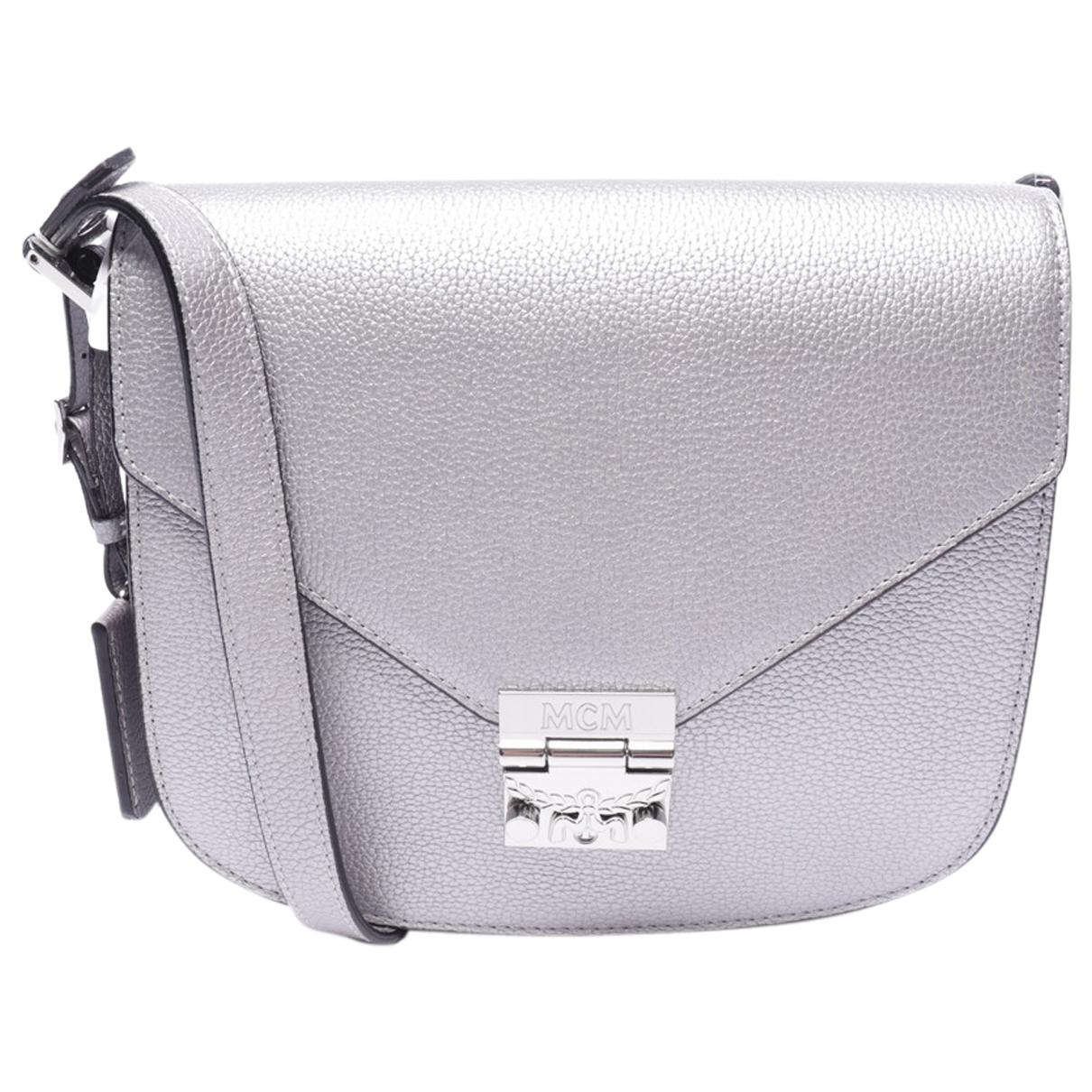 Mcm N Silver Leather handbag for Women N