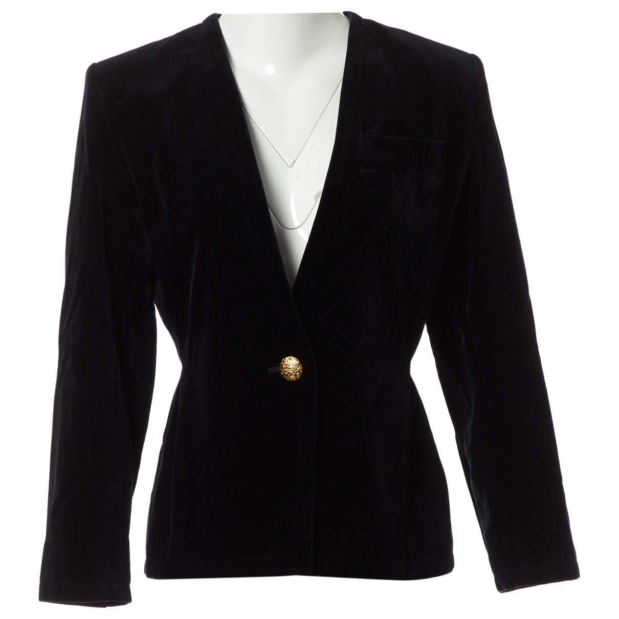Yves Saint Laurent \N Black Velvet jacket for Women 38 FR