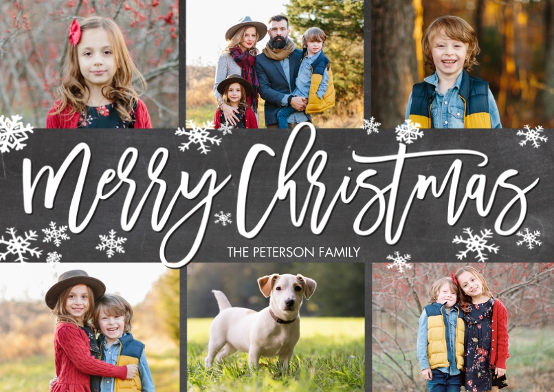 Christmas Photo Cards Flat Matte Photo Paper Cards with Envelopes, 5x7, Card & Stationery -Christmas Filmstrip Photos by Tumbalina