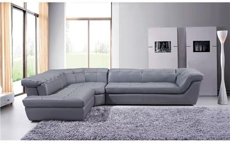 175442912-LHFC Italian Leather Sectional Grey Color in Left Hand Facing