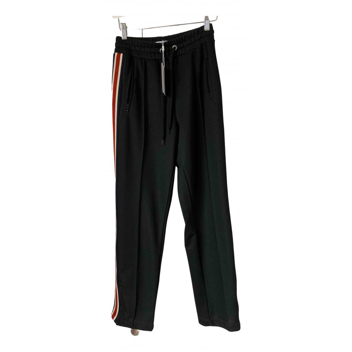 Anine Bing Spring Summer 2020 Black Cotton Trousers for Women XS International