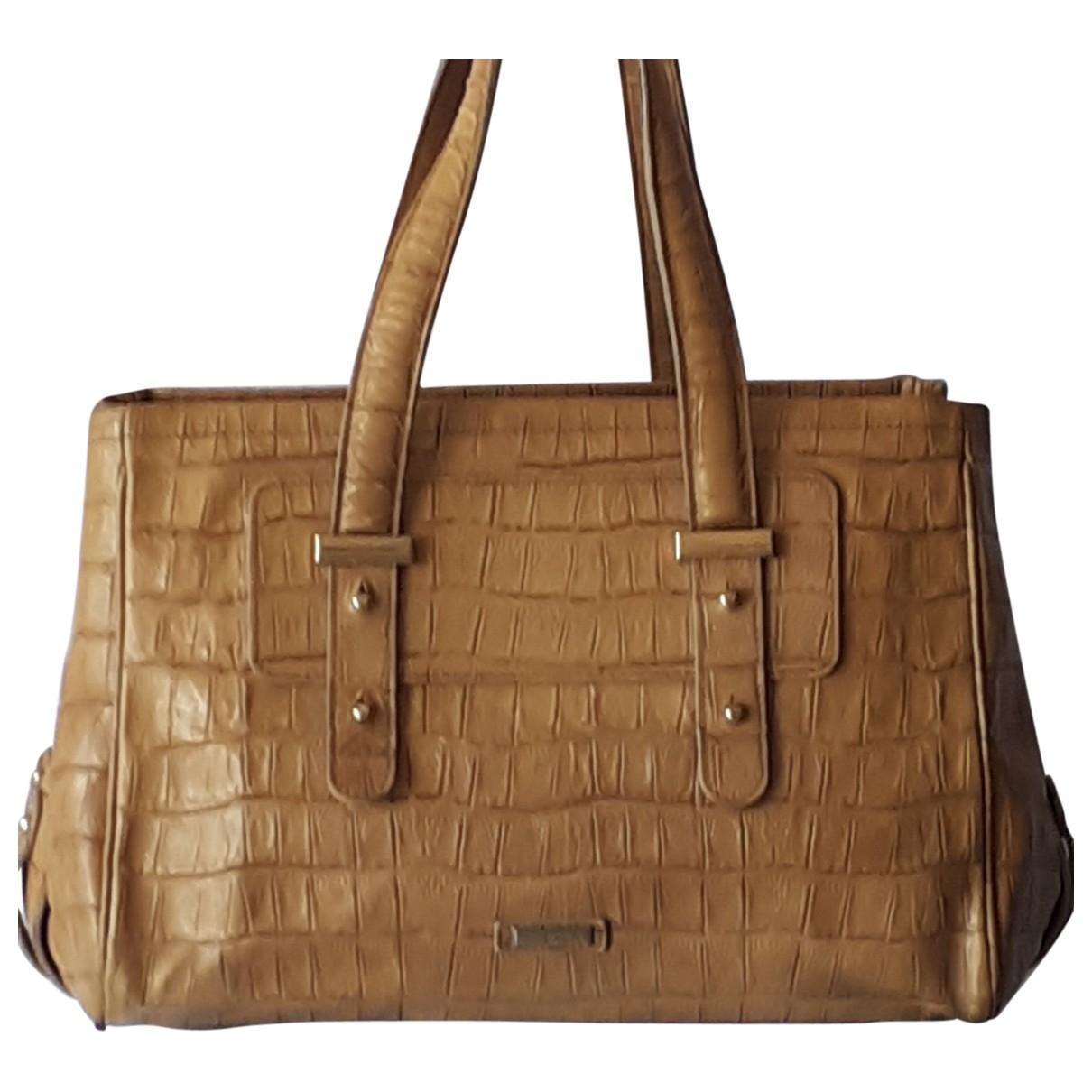 Giorgio Armani \N Yellow Leather handbag for Women \N