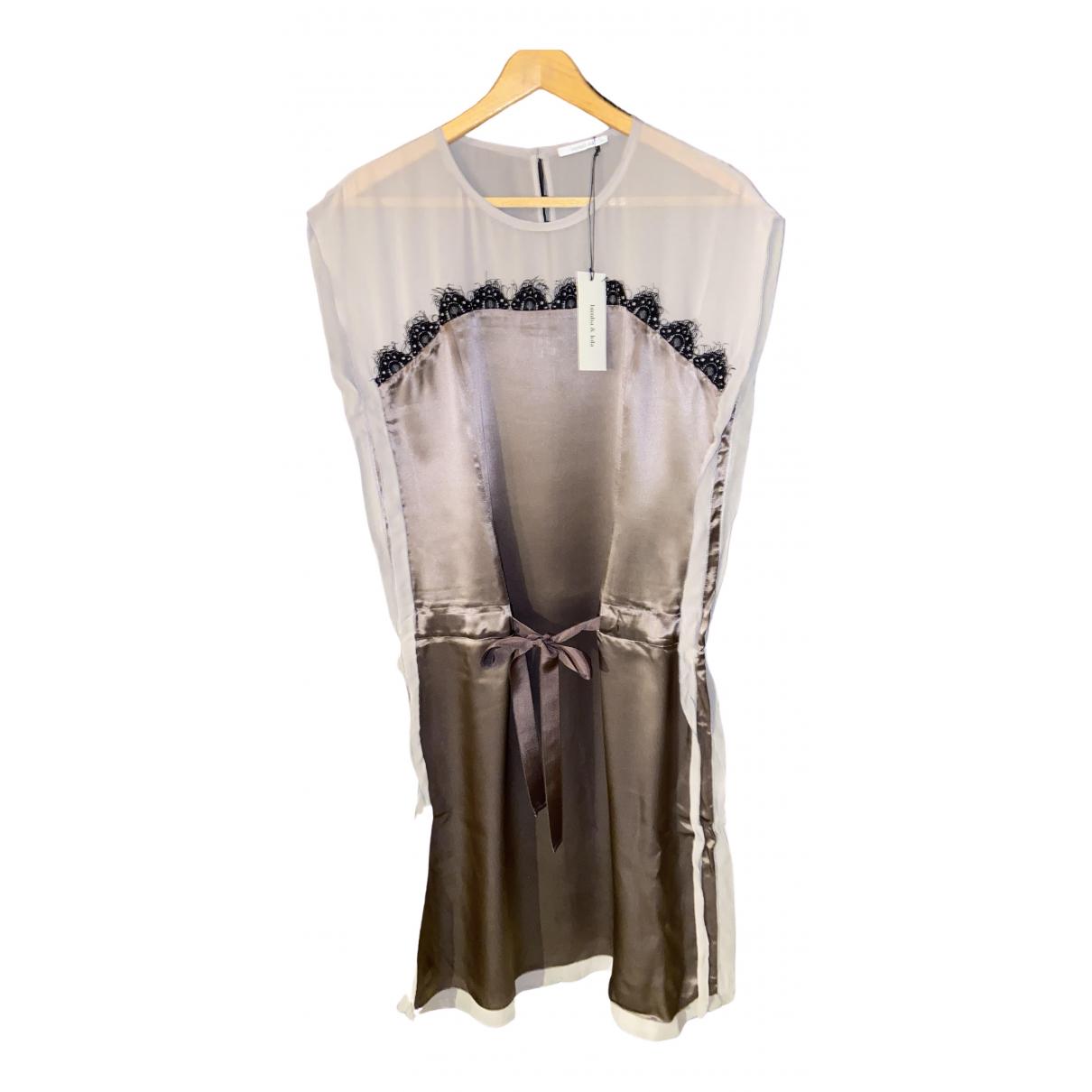 Bimba Y Lola \N Metallic Silk dress for Women M International