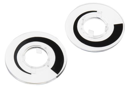 RS PRO Potentiometer Dial, 29mm Knob Diameter, Clear, 11.1mm Shaft, For Use With Collet Knob (10)