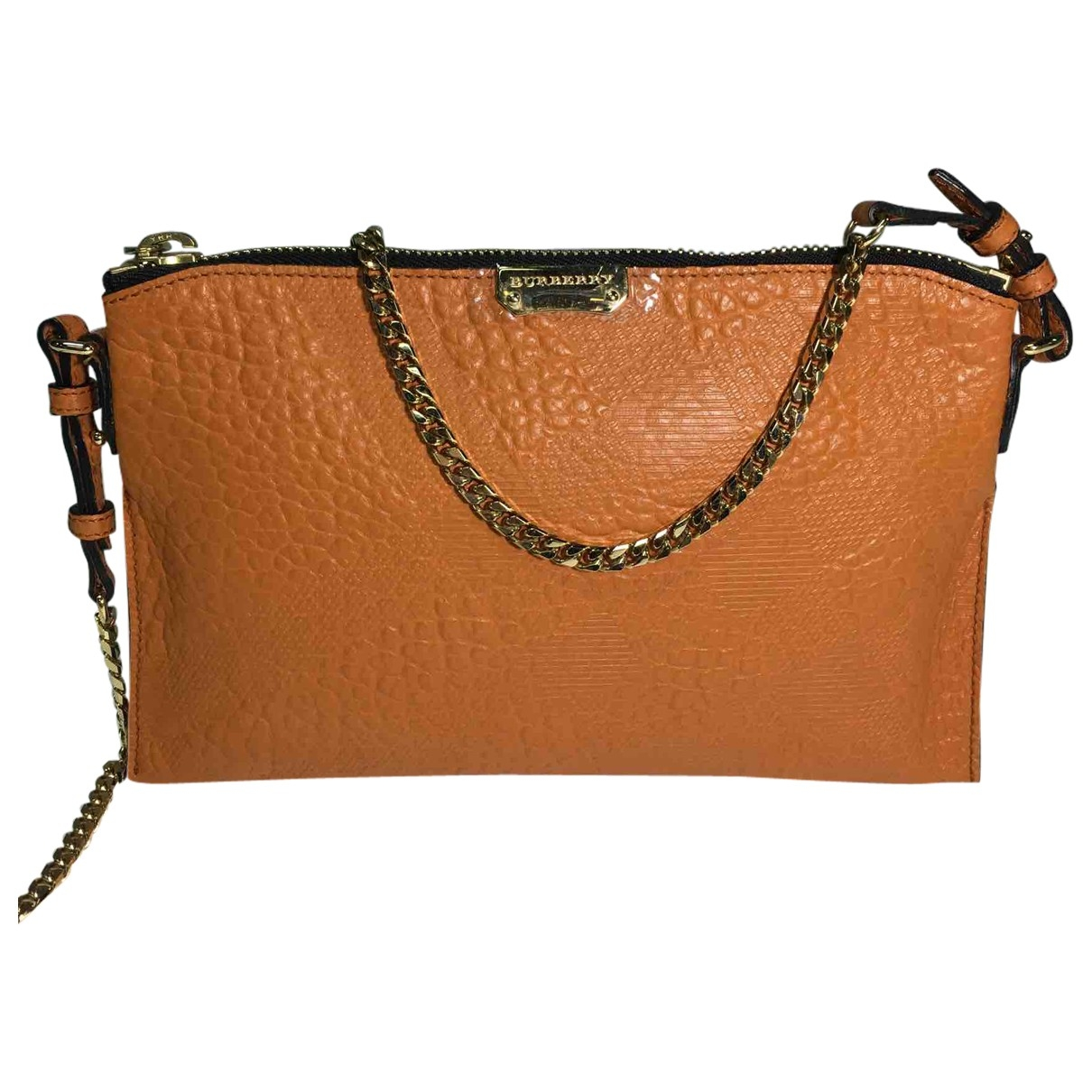 Burberry \N Orange Leather handbag for Women \N