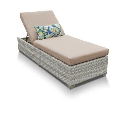 FAIRMONT-1x-WHEAT Fairmont Chaise Outdoor Wicker Patio Furniture with 2 Covers: Beige and