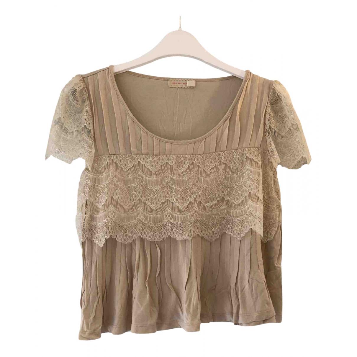 Urban Outfitters - Top   pour femme en coton - beige