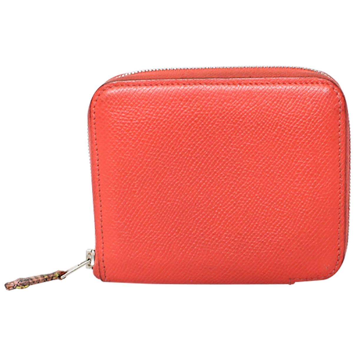 Hermes - Portefeuille Azap pour femme en cuir - orange