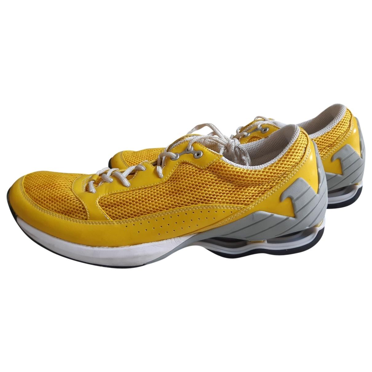 Emporio Armani - Baskets   pour homme en toile - jaune
