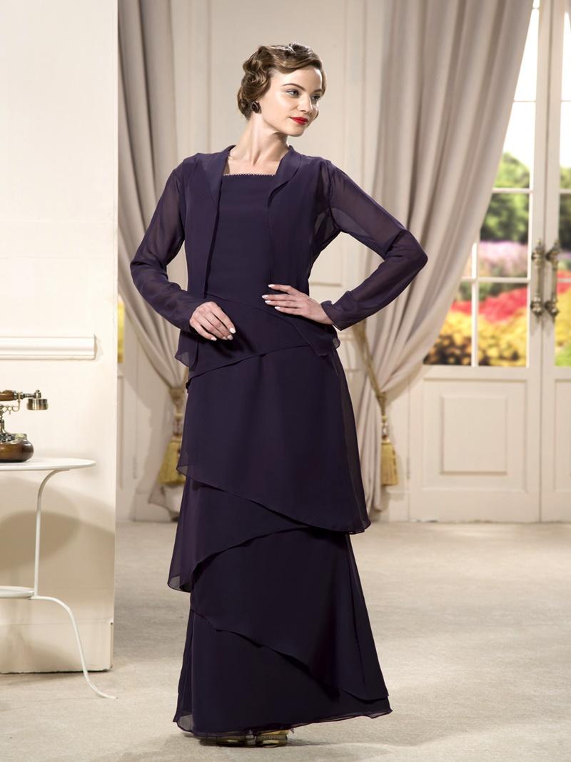 Charming A-line Floor-length Beaded Square Neckline Strapless Evening Dress