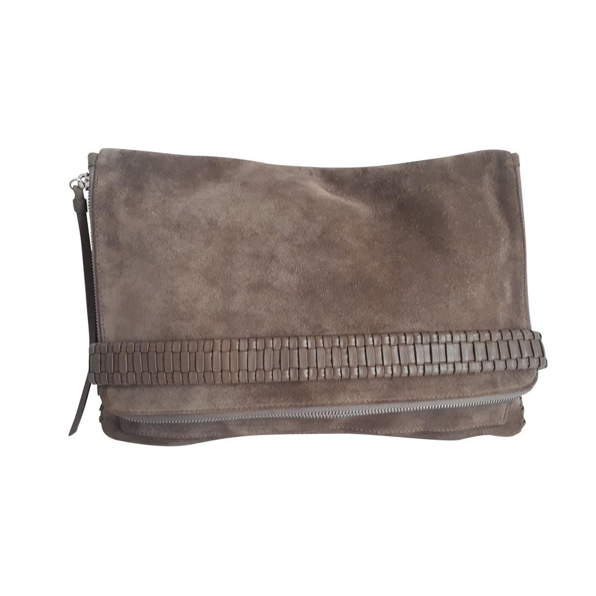 All Saints \N Grey Suede handbag for Women \N