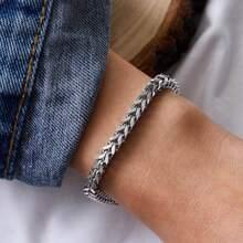1pc Metallic Chain Bracelet