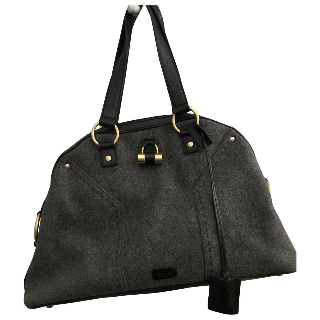 Yves Saint Laurent Muse Grey Wool handbag for Women \N