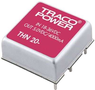 TRACOPOWER THN 20 20W Isolated DC-DC Converter Through Hole, Voltage in 18 → 36 V dc, Voltage out ±15V dc