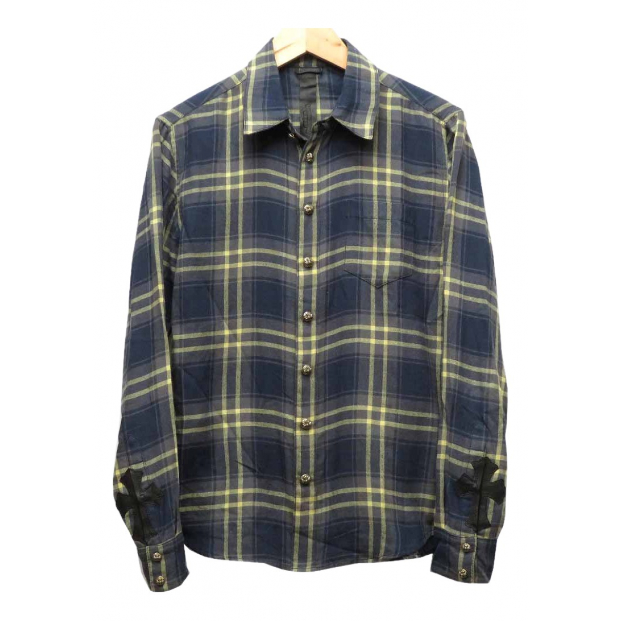 Chrome Hearts \N Navy Cotton Shirts for Men S International