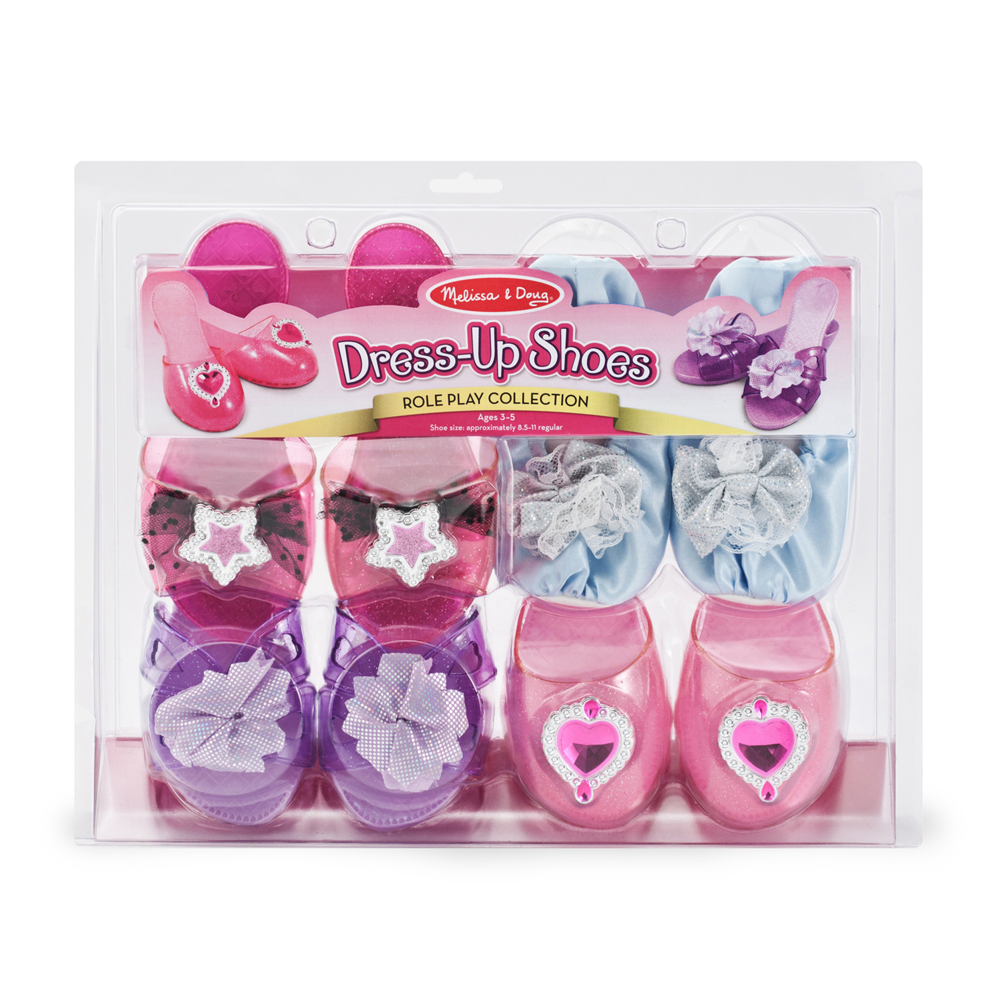 Role Play Collection, Step In Style! Dress-Up Shoes, Pretend Play, Set (4 Pairs), 11