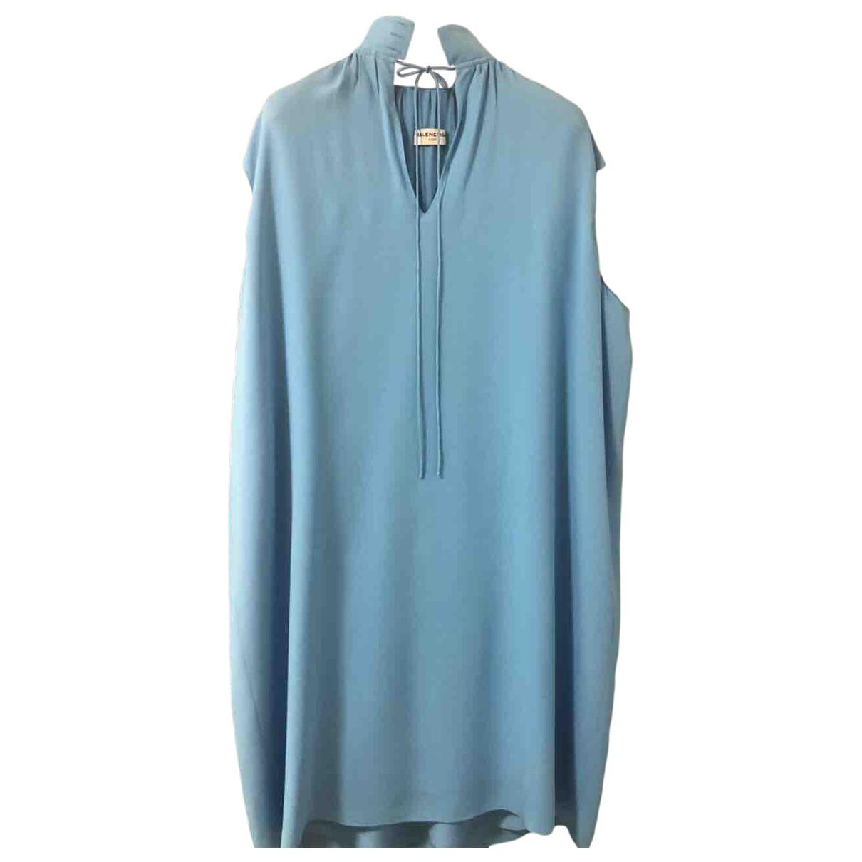 Balenciaga - Robe   pour femme en soie - bleu