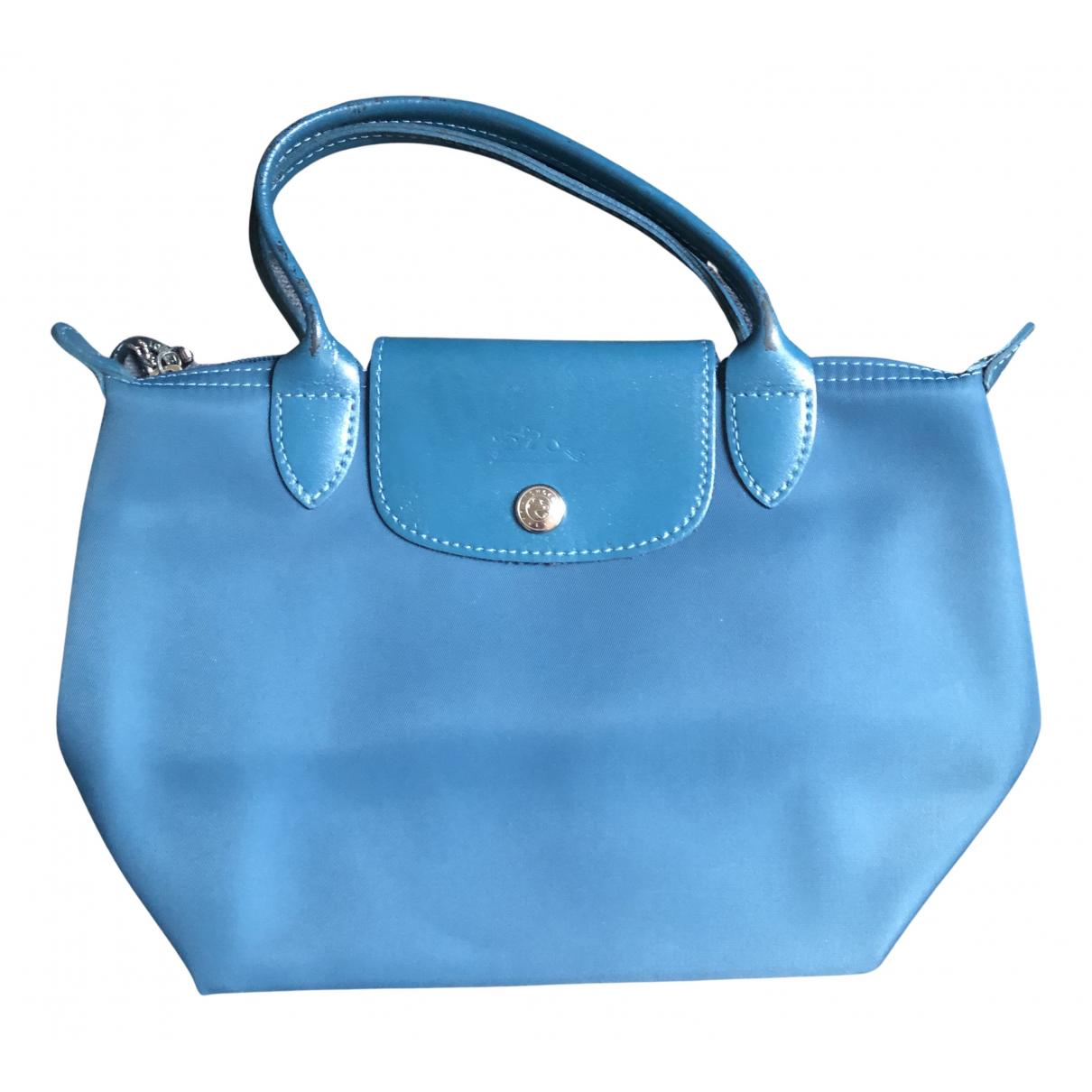 Longchamp - Sac a main Pliage  pour femme en toile - turquoise