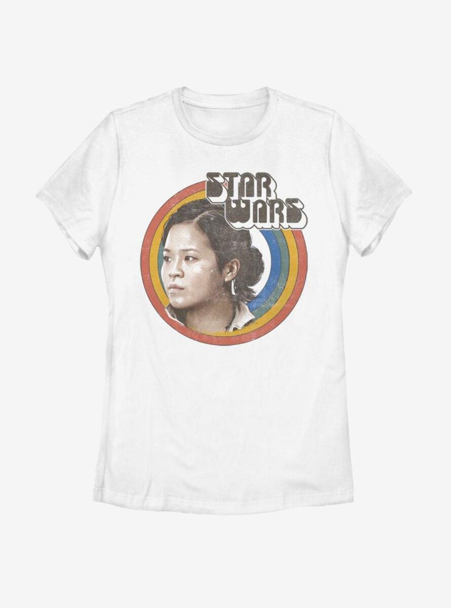 Star Wars Vintage Rose Rainbow Womens T-Shirt