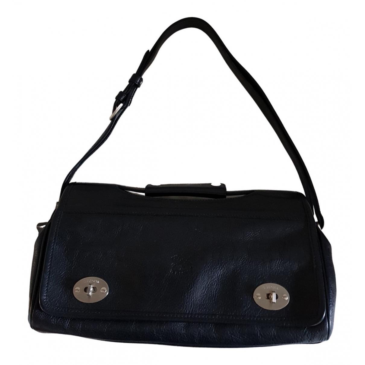 Il Bisonte \N Handtasche in  Schwarz Leder