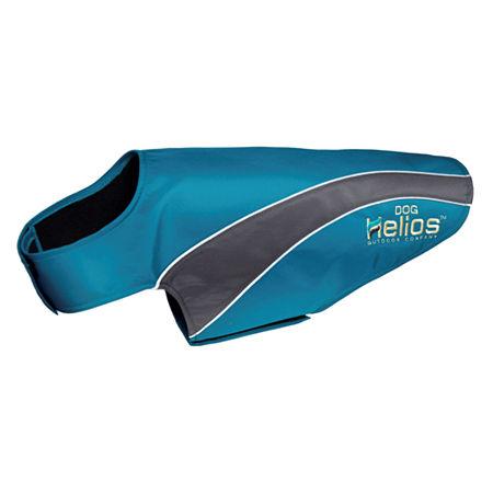 The Pet Life Helios Octane Softshell Neoprene Satin Reflective Dog Jacket w/ Blackshark technology, One Size , Blue