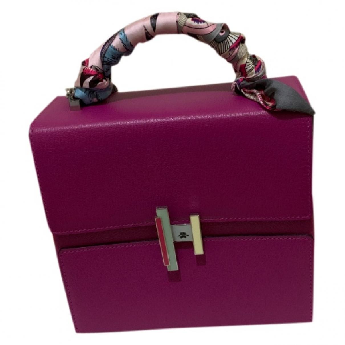 Hermes Cinhetic Handtasche in  Lila Leder