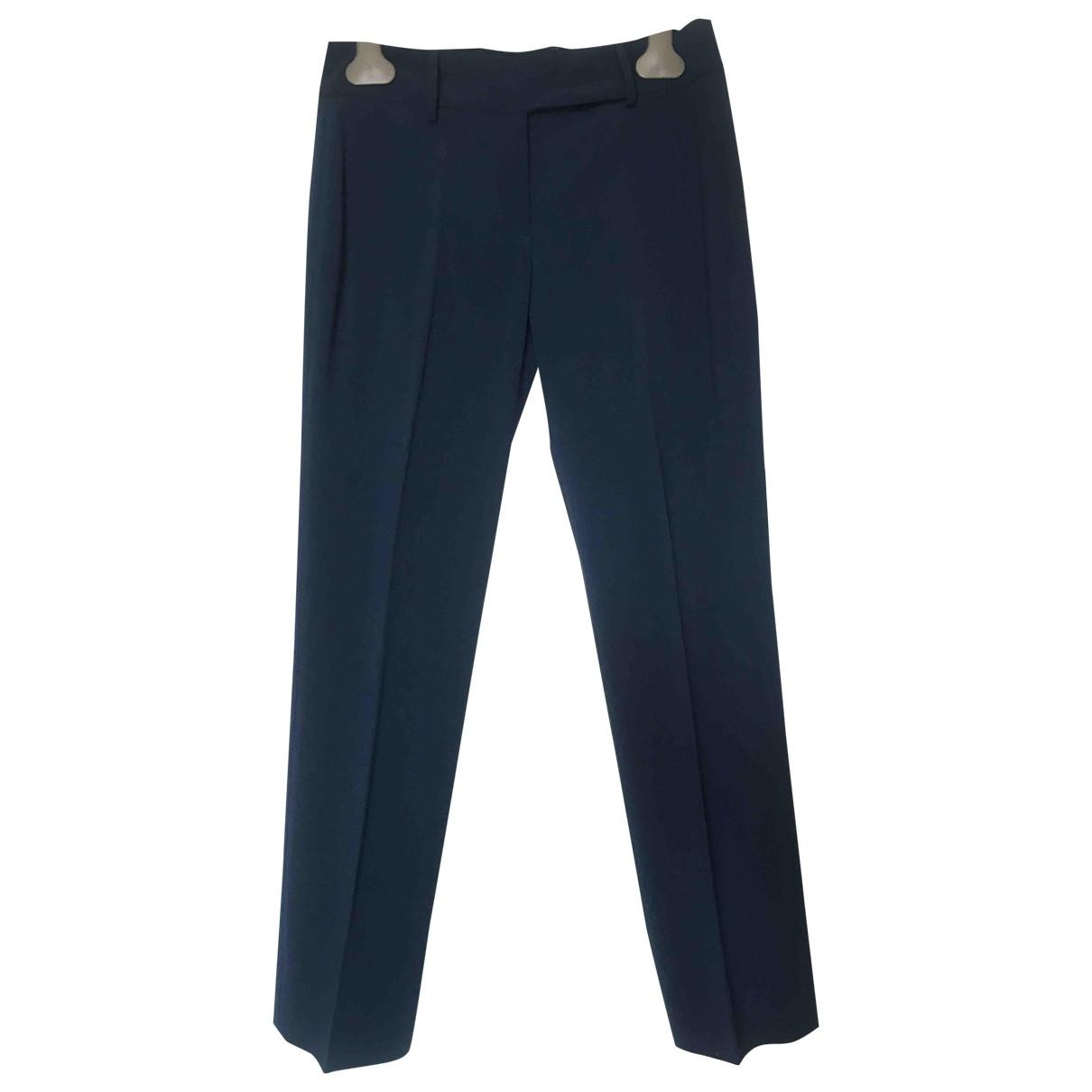 - Pantalon   pour femme en laine - bleu
