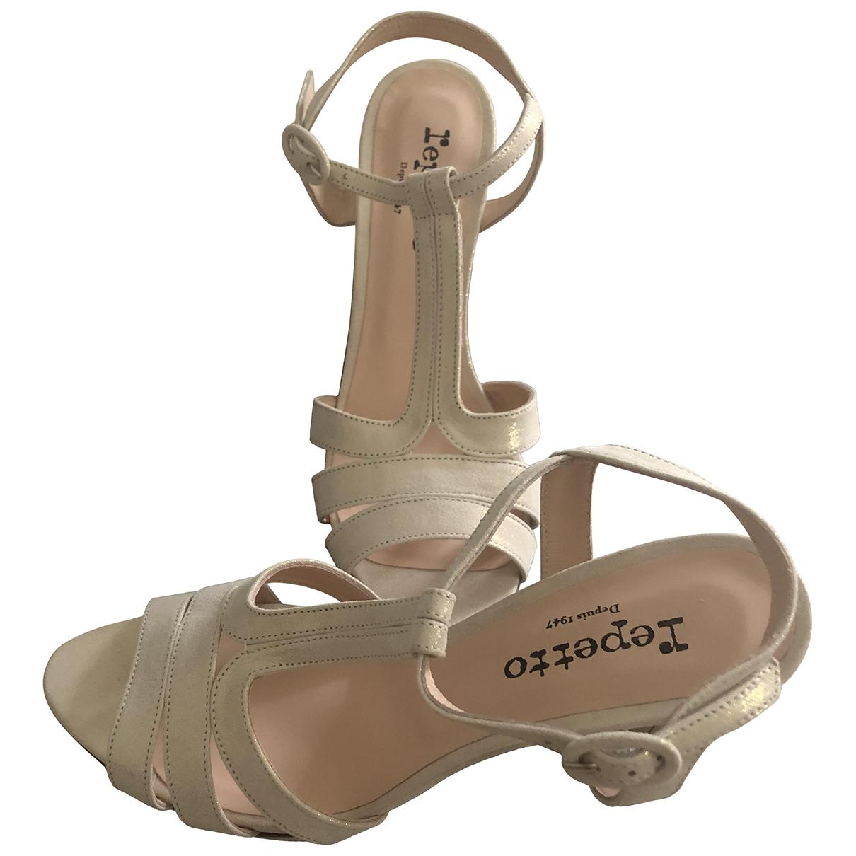 Repetto - Sandales   pour femme en cuir - ecru