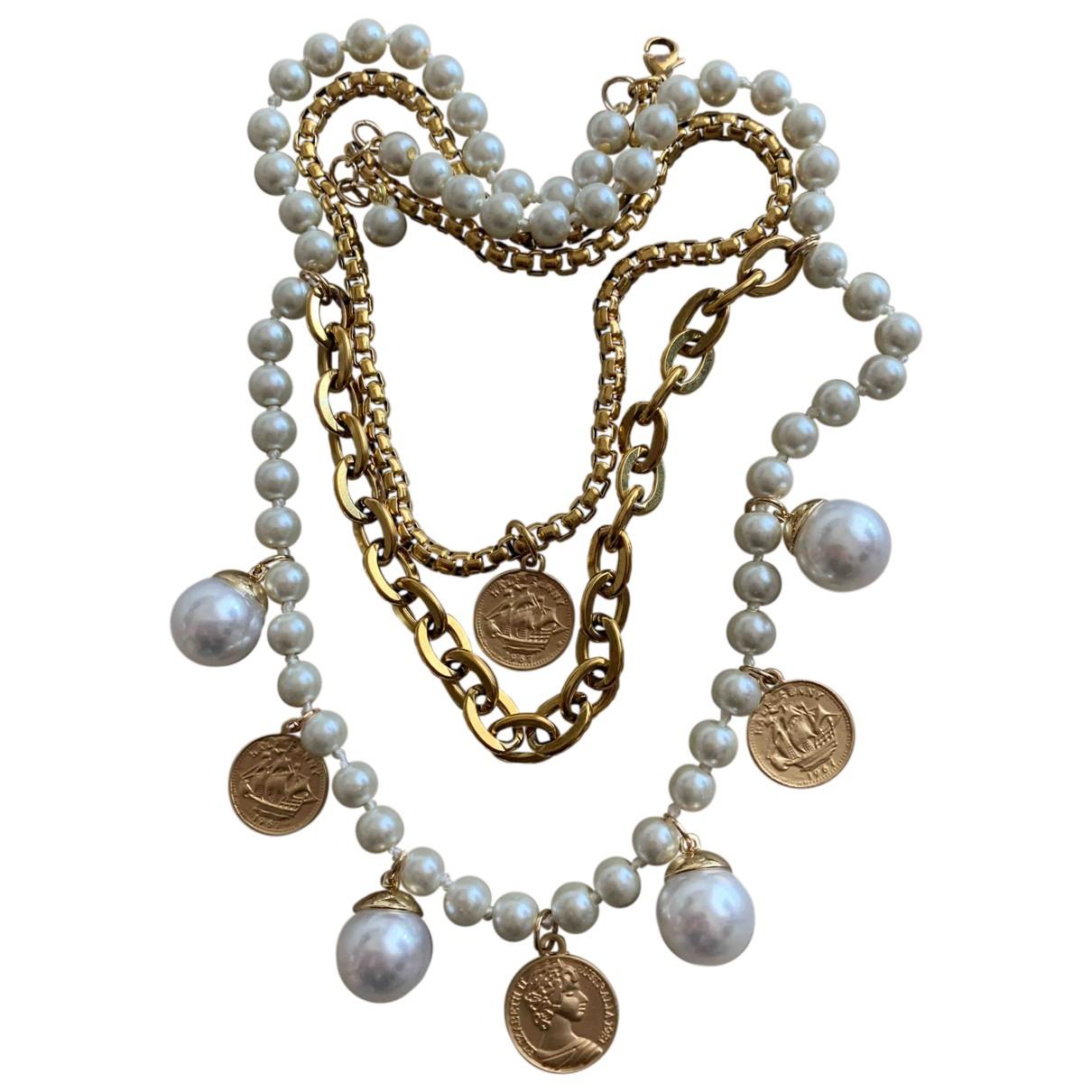 Collar Medailles con Perla Non Signe / Unsigned