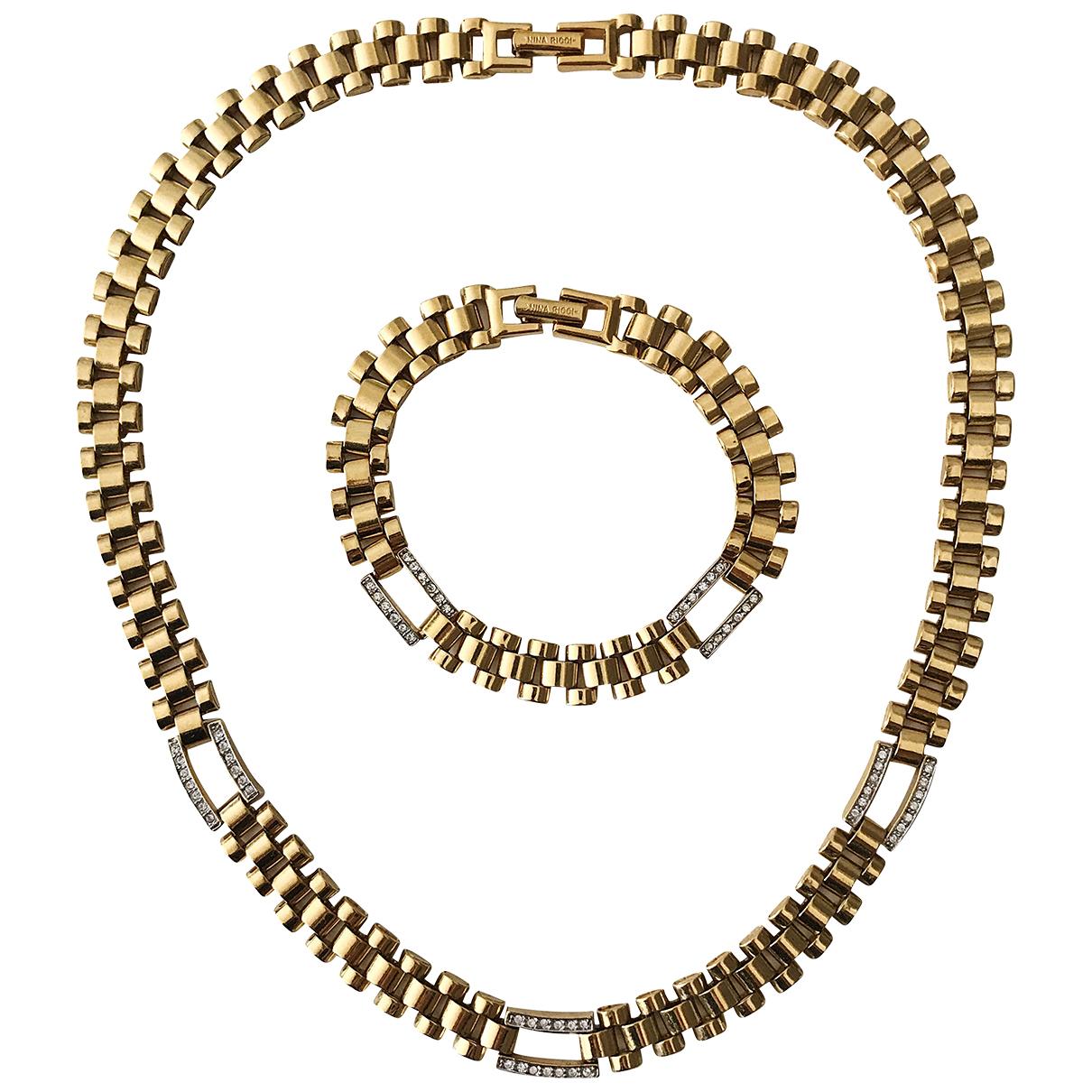 Nina Ricci N Gold Metal Jewellery set for Women N