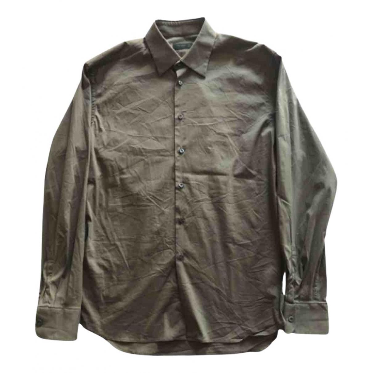 Prada - Chemises   pour homme en coton - vert