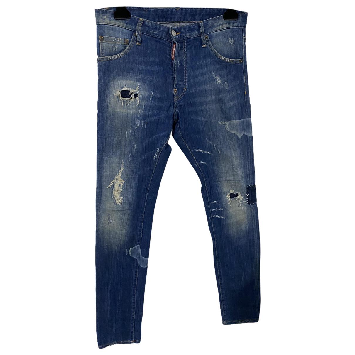 Dsquared2 N Blue Cotton Jeans for Men 32 US