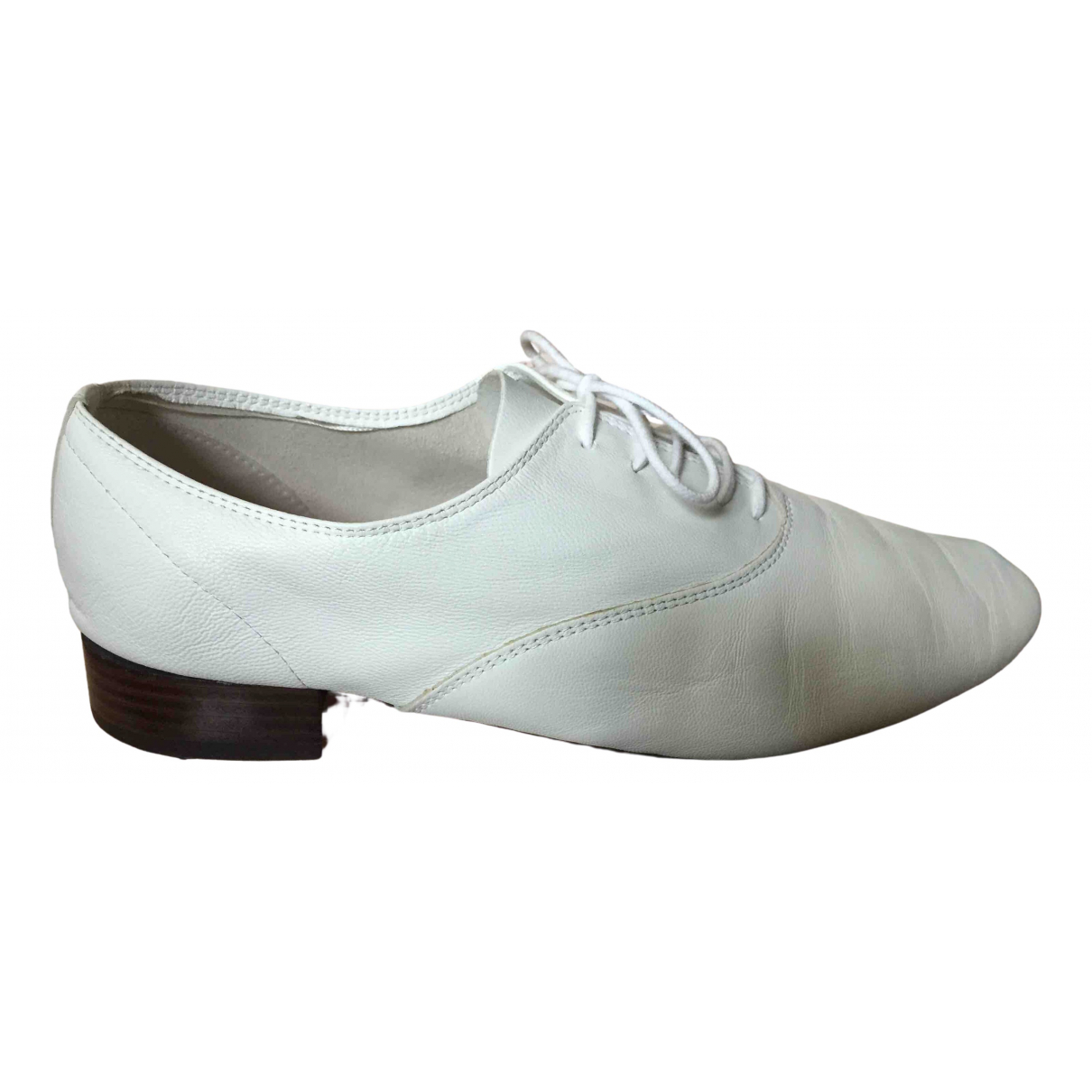 Repetto \N White Leather Lace ups for Women 41 EU