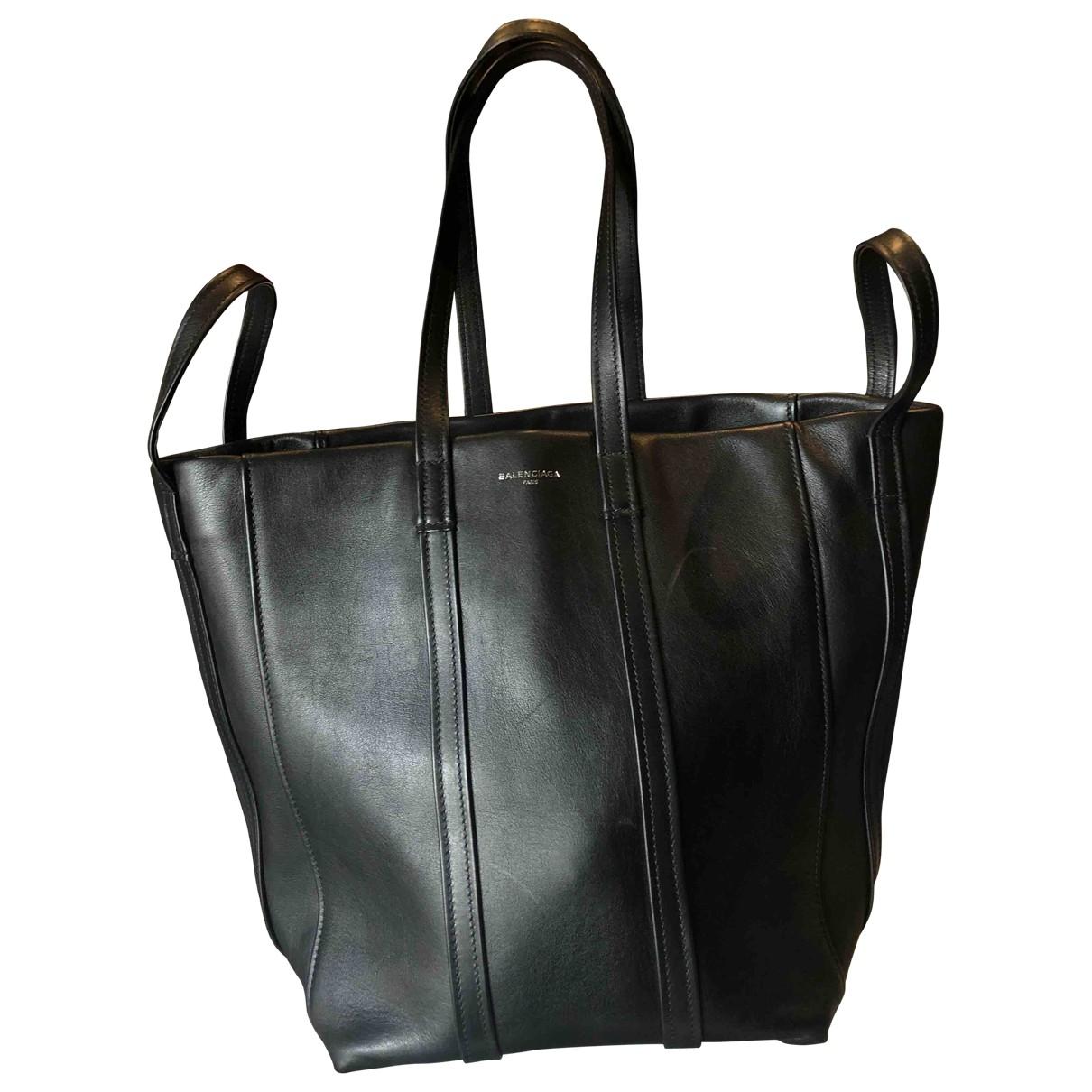 Balenciaga Laundry Cabas Handtasche in  Schwarz Leder