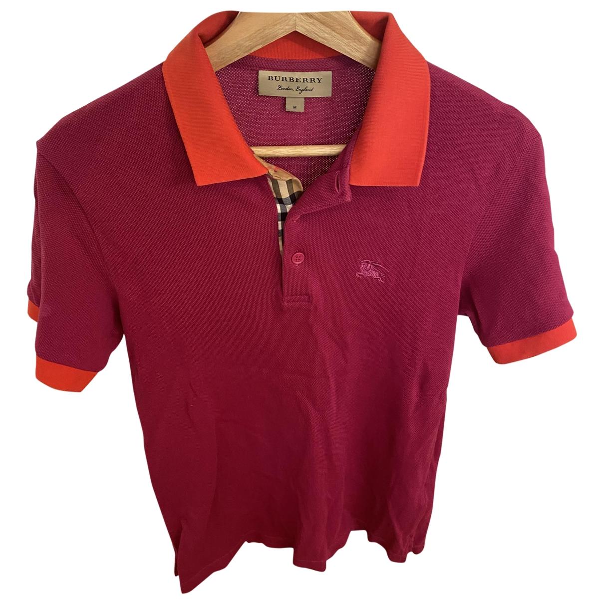 Burberry \N Purple Cotton Polo shirts for Men M International
