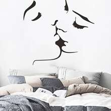 Abstract Kissing Couple Wall Sticker
