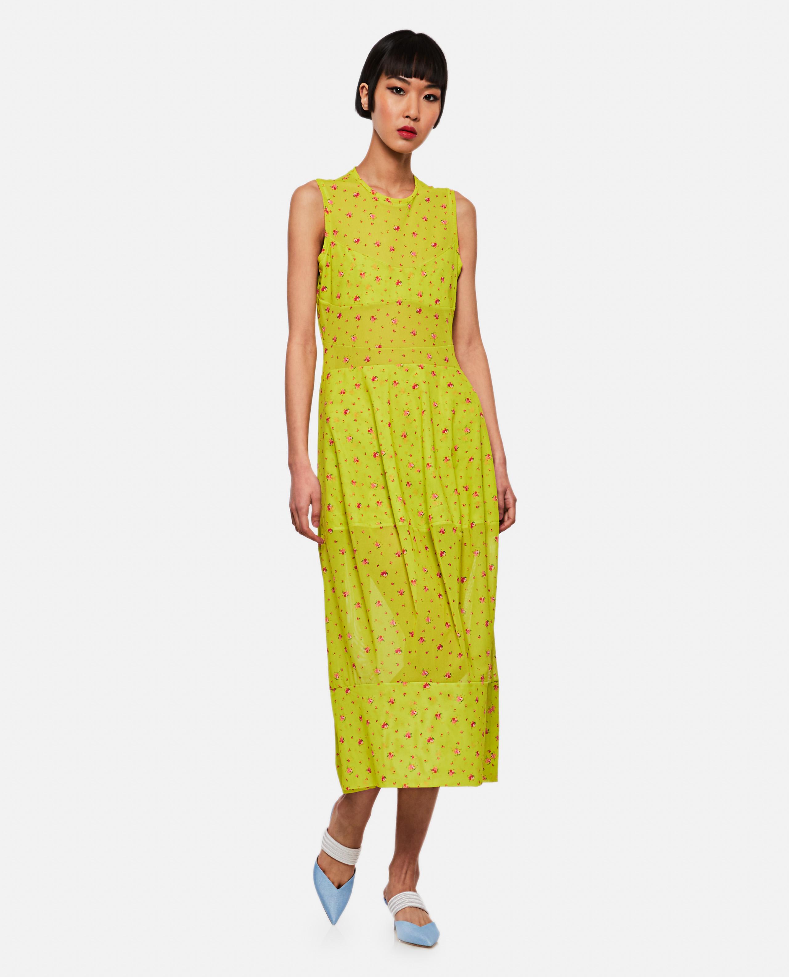 Long transparent fabric dress