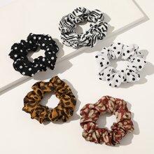5 Stuecke Haarband mit Punkten Muster