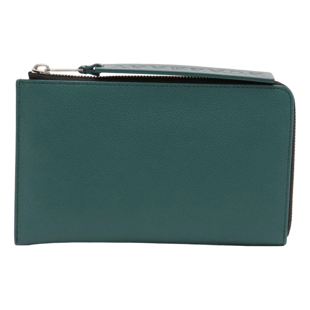 Burberry \N Green Leather Purses, wallet & cases for Women \N