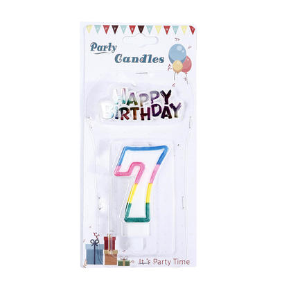 Party Number 7 Candle Happy Birthday Decor - LIVINGbasics™